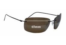 Sunglass Fix Sunglass Replacement Lenses for Maui Jim Frigate MJ716 - 65mm Wide