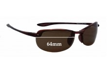 Sunglass Fix Sunglass Replacement Lenses for Maui Jim Sport Makaha H805 - 64mm Wide