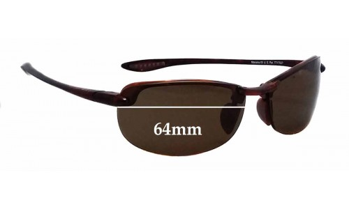 Sunglass Fix Sunglass Replacement Lenses for Maui Jim Sport Makaha H-805 - 64mm wide