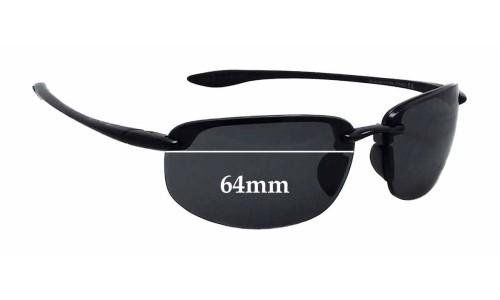 Sunglass Fix Sunglass Replacement Lenses for Maui Jim Ho'okipa MJ807 - 64mm wide