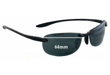 Sunglass Fix Sunglass Replacement Lenses for Maui Jim Sport Makaha MJ905 - RX - 64mm Wide