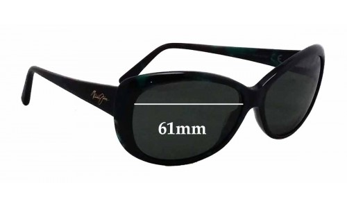 Sunglass Fix Sunglass Replacement Lenses for Maui Jim Pikake MJ290 - 61mm Wide