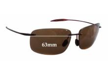 Sunglass Fix Sunglass Replacement Lenses for Maui Jim Breakwall MJ422 - 63mm Wide