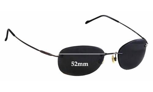 Sunglass Fix Sunglass Replacement Lenses for Maui Jim MJ452 Waikiki - 52mm Wide