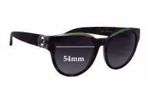 Sunglass Fix Sunglass Replacement Lenses for Michael Kors Bermuda MK6001B - 54mm Wide