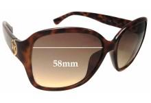 Sunglass Fix Sunglass Replacement Lenses for Michael Kors Sophia M2842S - 58mm Wide