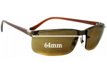 Sunglass Fix Sunglass Replacement Lenses for Unknown Semi Rimless - 64mm Wide