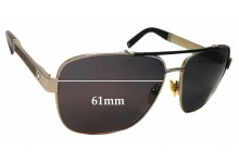 Sunglass Fix Sunglass Replacement Lenses for Montblanc MB 463S - 61mm Wide