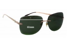 Sunglass Fix Sunglass Replacement Lenses for Montblanc MB 354S - 61mm Wide