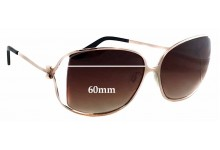Sunglass Fix Sunglass Replacement Lenses for Moschino MO618-02 - 60mm Wide