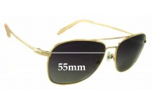 Sunglass Fix Sunglass Replacement Lenses for Mosley Tribes Santino - 55mm Wide