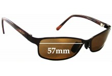 Sunglass Fix Sunglass Replacement Lenses for Maui Jim MJ114 Shoreline - 57mm Wide