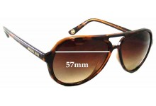 Sunglass Fix Sunglass Replacement Lenses for Michael Kors M2811S Caicos - 57mm Wide