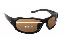 Sunglass Fix Sunglass Replacement Lenses for Nike Defiant EVO531 - 64mm Wide