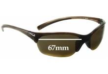 Sunglass Fix Sunglass Replacement Lenses for Nike Skylon EXP 2 EVO630 - 67mm Wide