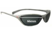Sunglass Fix Sunglass Replacement Lenses for Nike Interchange Square EV0011  - 66 mm Wide