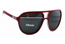 Sunglass Fix Sunglass Replacement Lenses for Nike Vintage 72 EVO597 - 59mm Wide x 49mm Tall