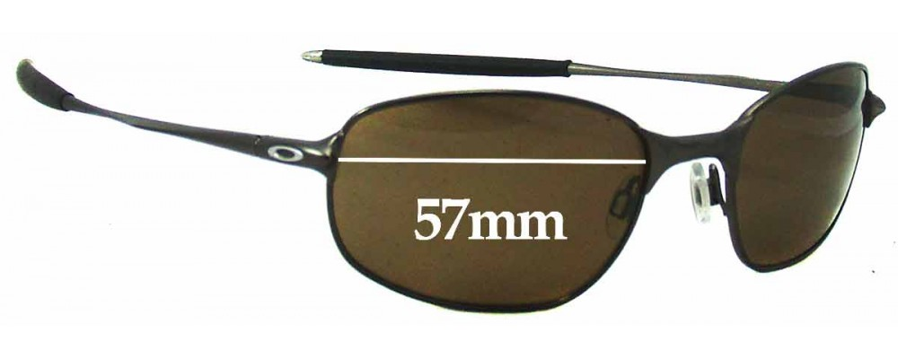 Fix Wire Frame Glasses : Oakley Big Square Wire Sunglass Replacement Lenses - 57mm Wide