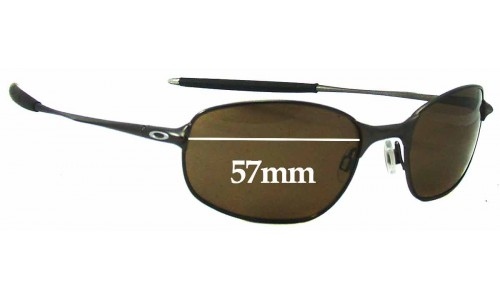 Sunglass Fix Sunglass Replacement Lenses for Oakley Big Square Wire - 57mm Wide