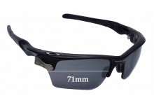 Sunglass Fix Sunglass Replacement Lenses for Oakley Fast Jacket OO9156 - 71mm Wide