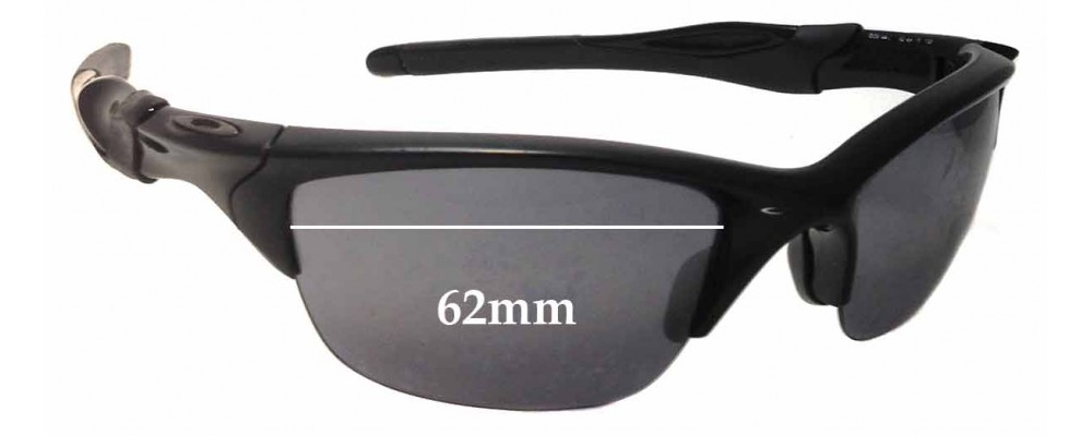 Sunglass Fix Sunglass Replacement Lenses for Oakley Half Jacket 2.0 OO9144 - 62mm Wide