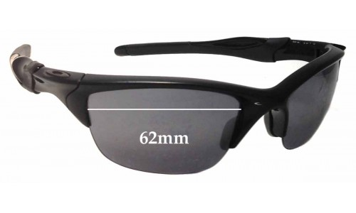 Sunglass Fix Sunglass Replacement Lenses for Oakley Half Jacket 2.0 OO9144 - 62mm Wide