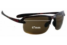 Sunglass Fix Sunglass Replacement Lenses for Oakley Ice Pick - 67mm Wide **Please measure as there is a smaller version. This version does not have a screw for the nose area**
