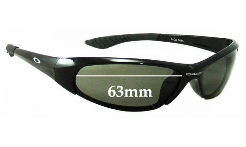 Sunglass Fix Sunglass Replacement Lenses for Oakley Mod 0885 - 63mm Wide