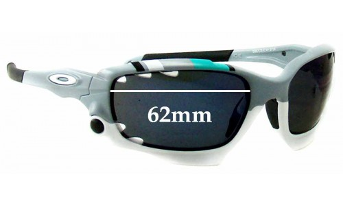 Sunglass Fix Sunglass Replacement Lenses for Oakley New Racing Jacket OO9171 - Vented Lenses - 62mm Wide