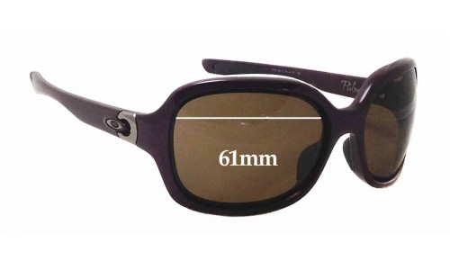 Sunglass Fix Sunglass Replacement Lenses for Oakley Pulse OO9198 - 61mm wide