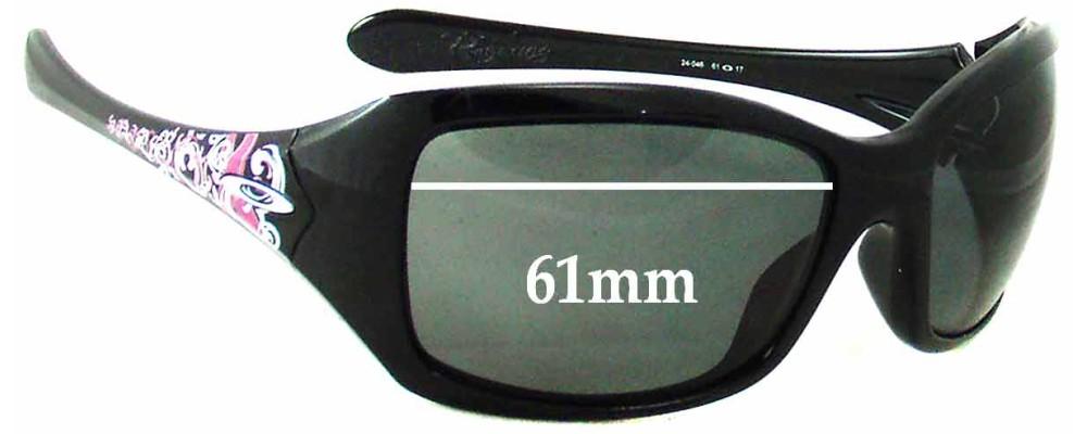 abc65fa165a5f Sunglass Fix Sunglass Replacement Lenses for Oakley Ravishing - 61 - 62mm  Wide