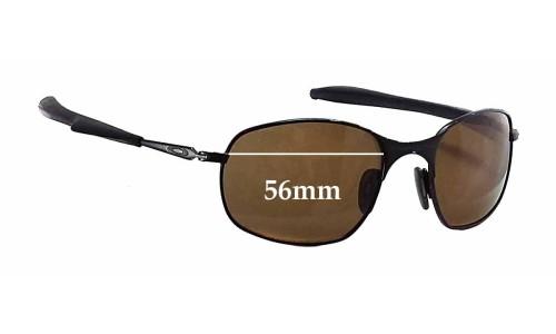Sunglass Fix Sunglass Replacement Lenses for Oakley Square Wire Gen. 2 - 56mm Wide