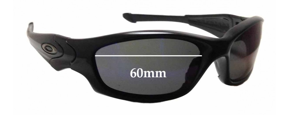 Sunglass Fix Sunglass Replacement Lenses for Oakley Straight Jacket 60mm & 61mm Wide