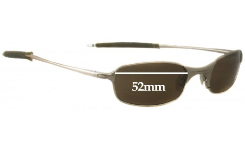 Sunglass Fix Sunglass Replacement Lenses for Oakley T Wire 2.0 - 52mm Wide