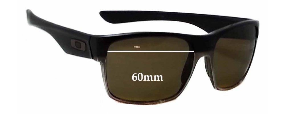 34ae248079 Sunglass Fix Sunglass Replacement Lenses for Oakley Two Face - 60mm Wide