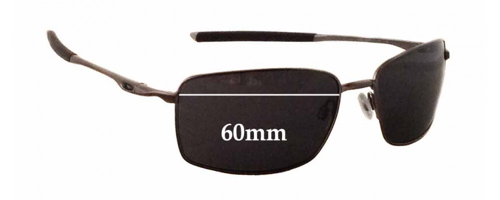 Sunglass Fix Sunglass Replacement Lenses for Oakley Square Wire OO4075 - 60mm Wide