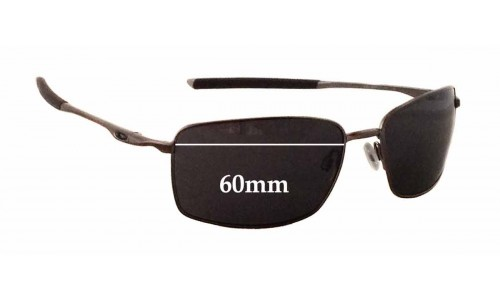 Sunglass Fix Sunglass Replacement Lenses for Oakley OO4075 W Square Wire - 60mm Wide