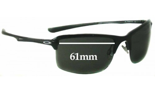 Sunglass Fix Sunglass Replacement Lenses for Oakley OO4071 New Wiretap - 61mm wide