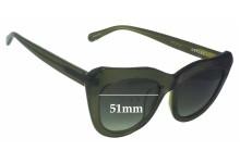 Sunglass Fix Sunglass Replacement Lenses for Onkler Hepnurn - 51mm Wide