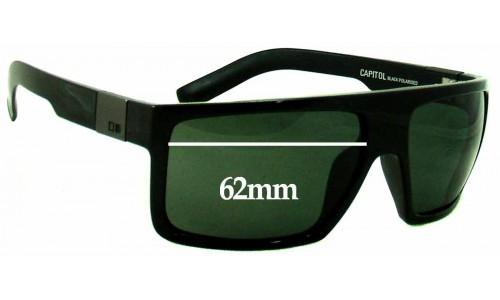 Sunglass Fix Sunglass Replacement Lenses for Otis Capitol - 62mm wide