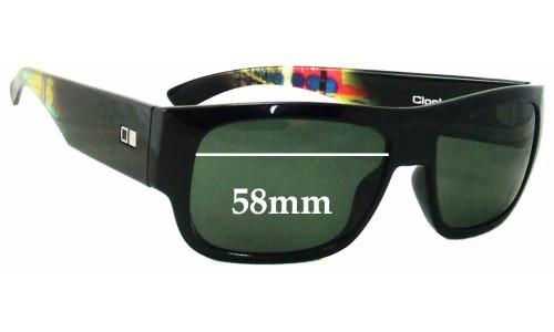 Sunglass Fix Sunglass Replacement Lenses for Otis Clockwork - 58mm wide