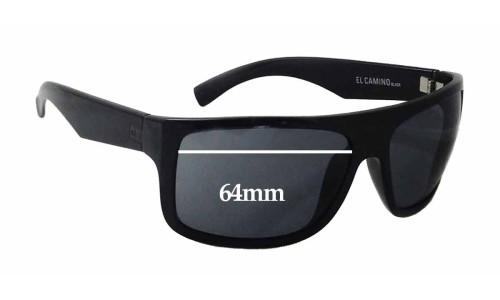 Sunglass Fix Sunglass Replacement Lenses for Otis El Camino - 64mm wide
