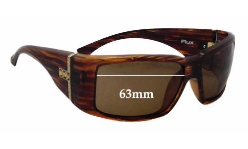 Sunglass Fix Sunglass Replacement Lenses for Otis Flux - 63mm Wide