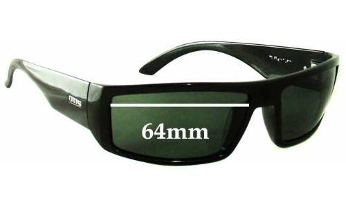 Sunglass Fix Sunglass Replacement Lenses for Otis Moto - 64mm wide