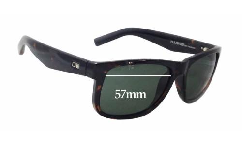Sunglass Fix Sunglass Replacement Lenses for Otis Paradisco - 57mm wide x 45mm tall