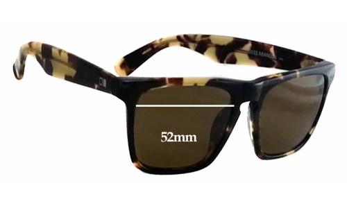 Sunglass Fix Sunglass Replacement Lenses for Otis Reckless Abandon - 52mm wide
