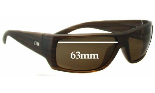 Sunglass Fix Sunglass Replacement Lenses for Otis The Insider - 63mm wide