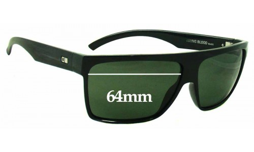 Sunglass Fix Sunglass Replacement Lenses for Otis Young Blood - 64mm wide