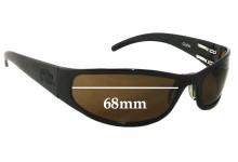 Sunglass Fix Sunglass Replacement Lenses for Outlaw Eyewear Cooler - 68mm Wide