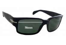Sunglass Fix Sunglass Replacement Lenses for Persol 3048-S -  58mm Wide x 37mm Tall *Please measure as there are variations*